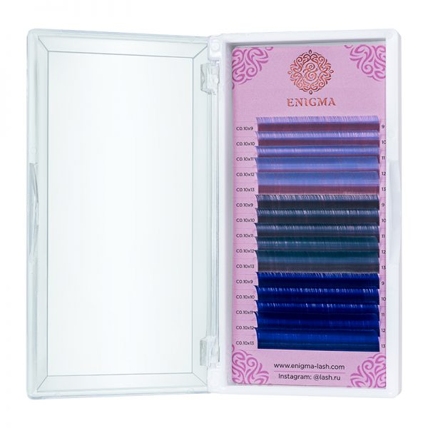 Цветные ресницы Enigma микс Ocean dream (15 линий)