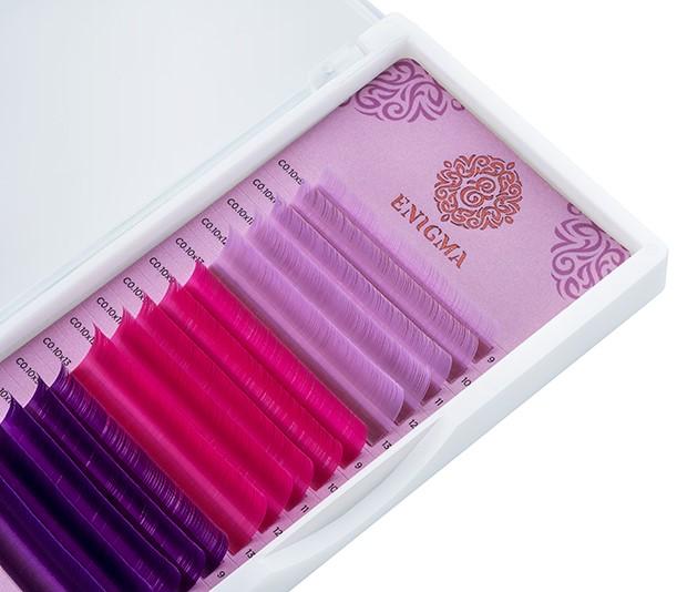 Цветные ресницы Enigma микс Sweet blossom (15 линий) 2